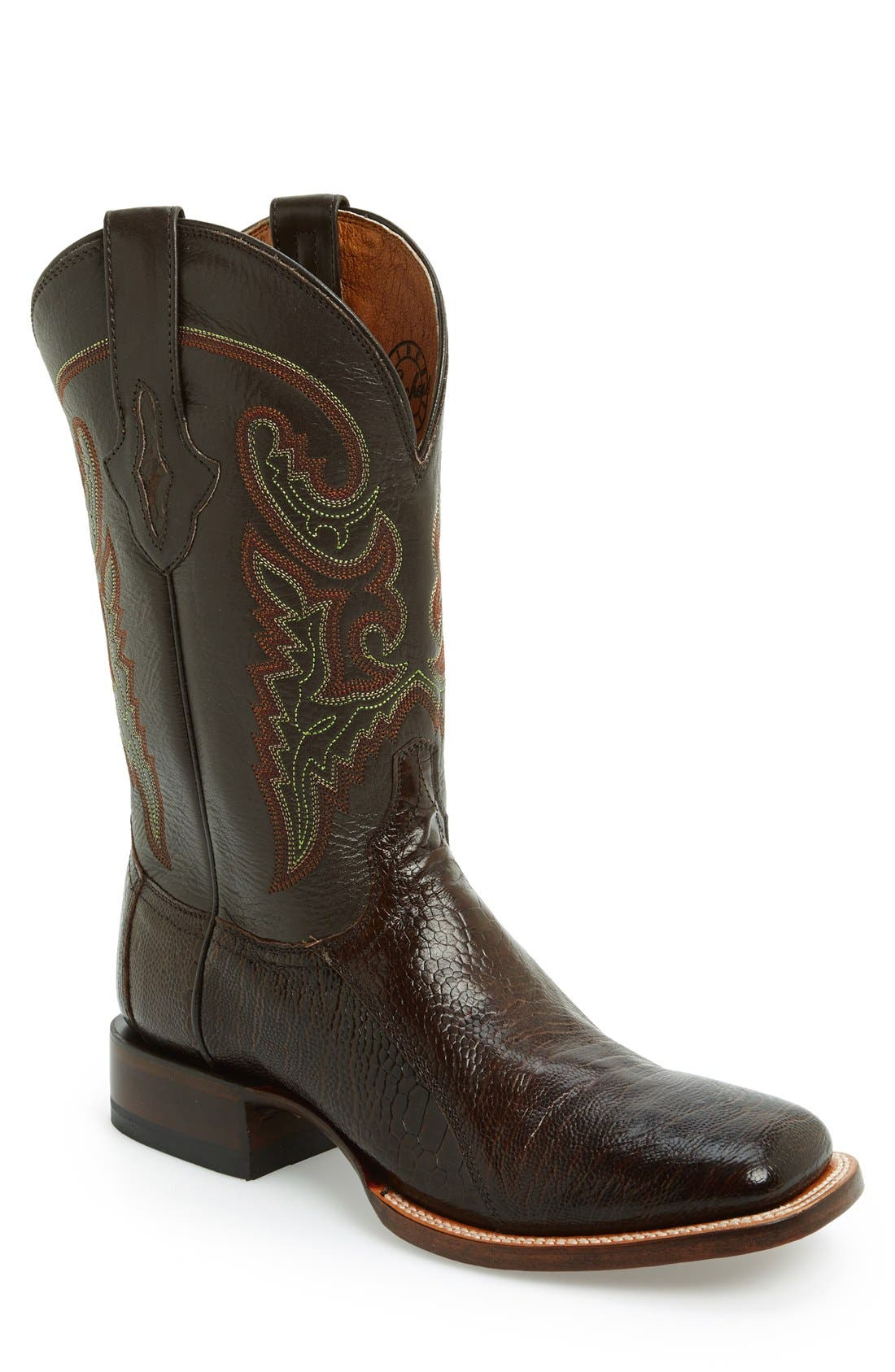 Alternate Image 1 Selected - Lucchese Square Toe Leather Boot (Men)