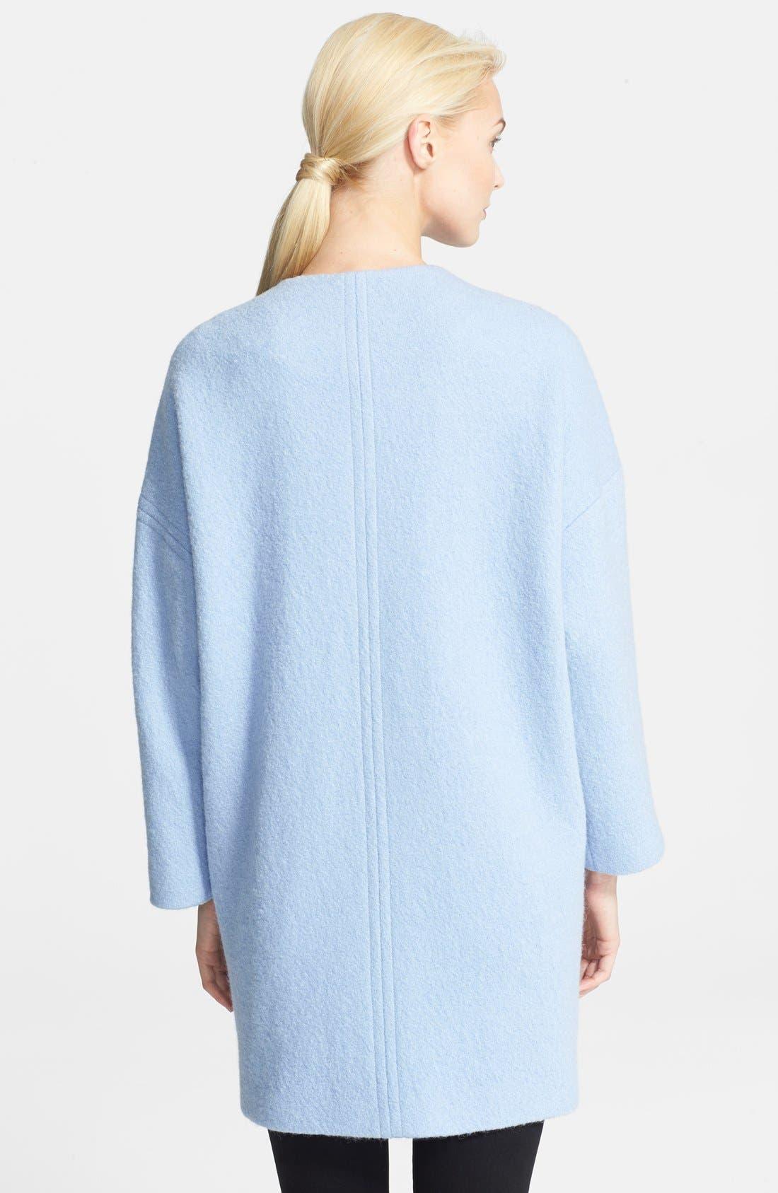 Alternate Image 2  - Helene Berman Boiled Wool Cocoon Coat