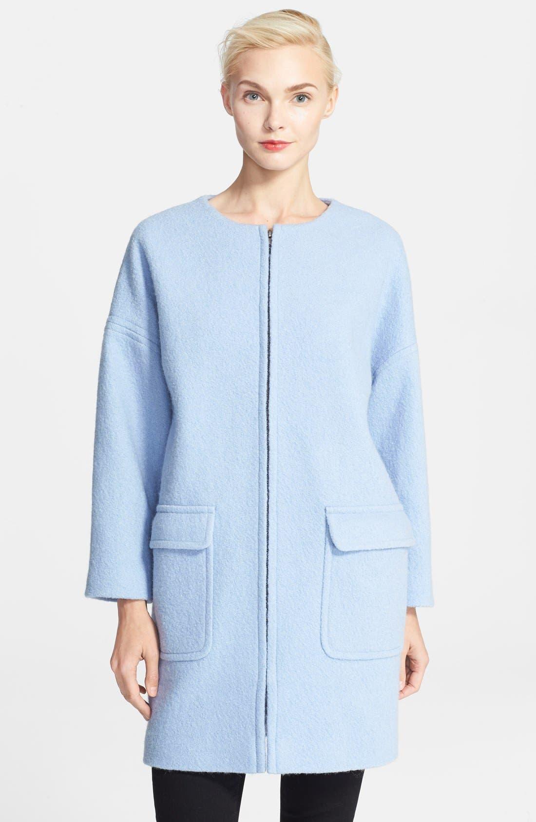 Alternate Image 1 Selected - Helene Berman Boiled Wool Cocoon Coat