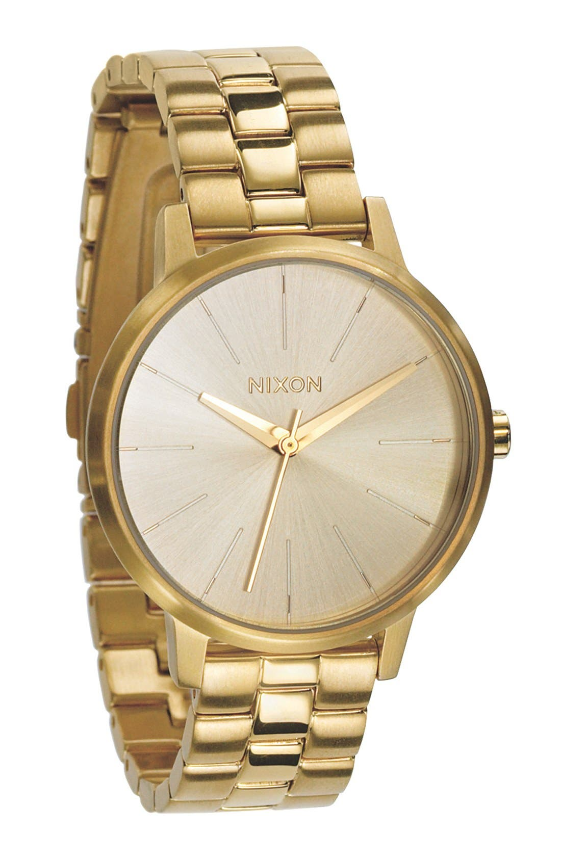 'The Kensington' Round Bracelet Watch, 37mm,                         Main,                         color, All Gold