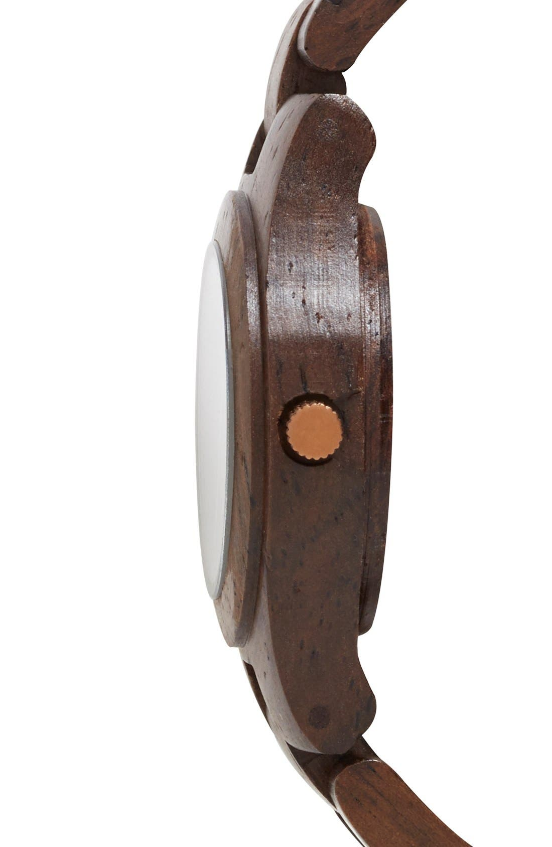 Alternate Image 3  - WeWOOD 'Moon Crystal' Wood Bracelet Watch, 29mm