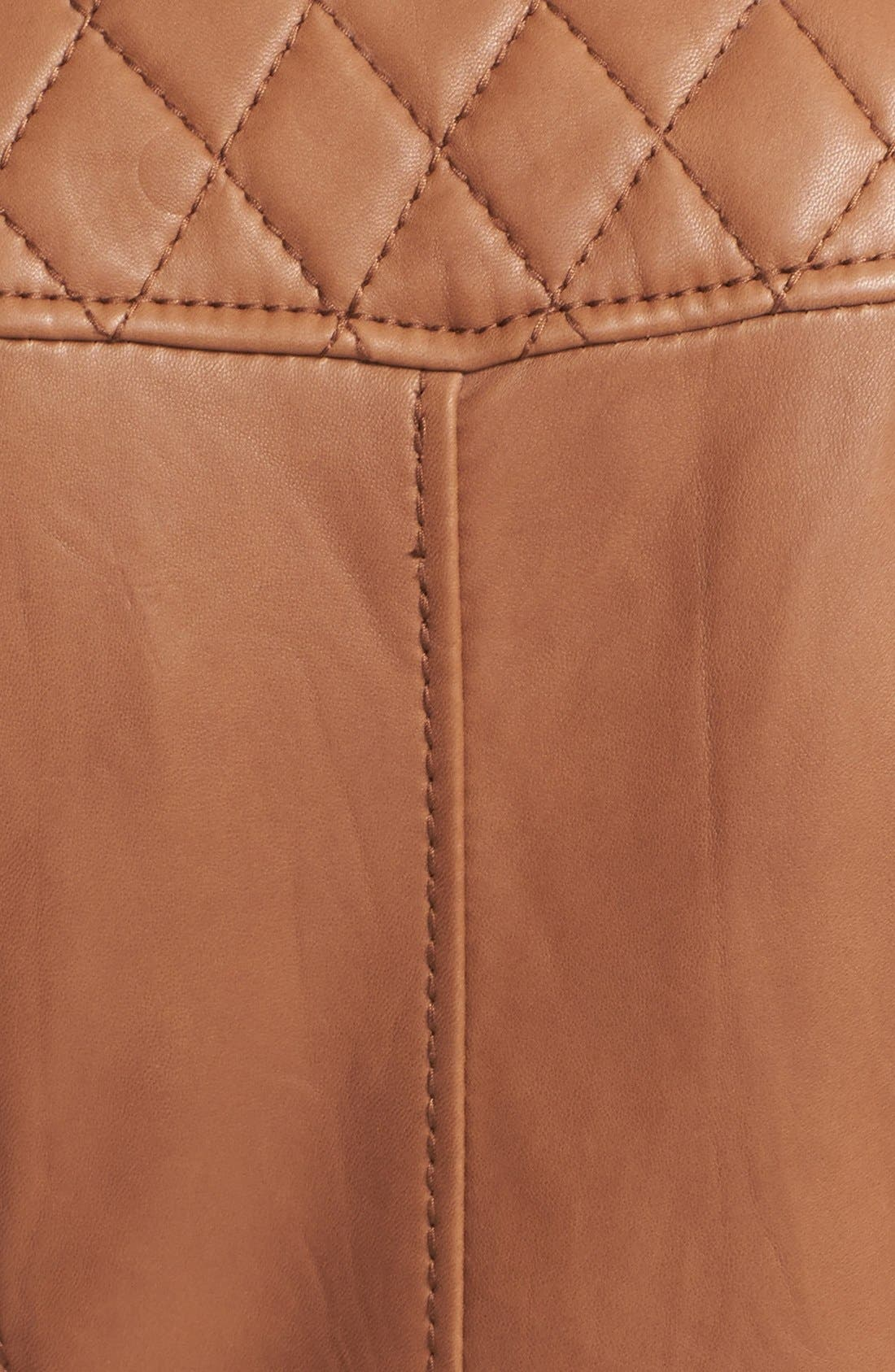 Alternate Image 3  - MICHAEL Michael Kors Leather Moto Jacket (Online Only)
