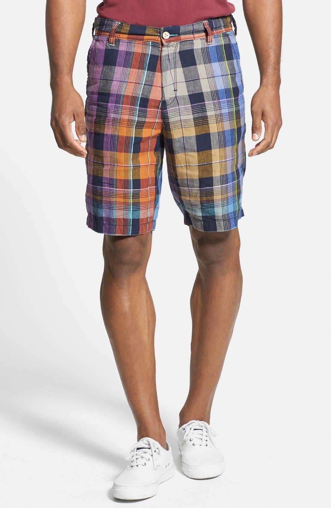 Main Image - Tommy Bahama 'Weave Master' Linen Shorts (Big)