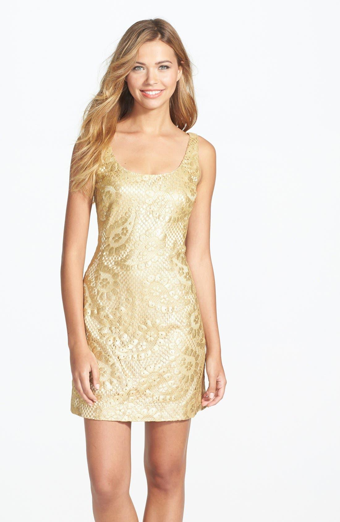Main Image - Lilly Pulitzer® 'Eaton' Metallic Paisley Shift Dress