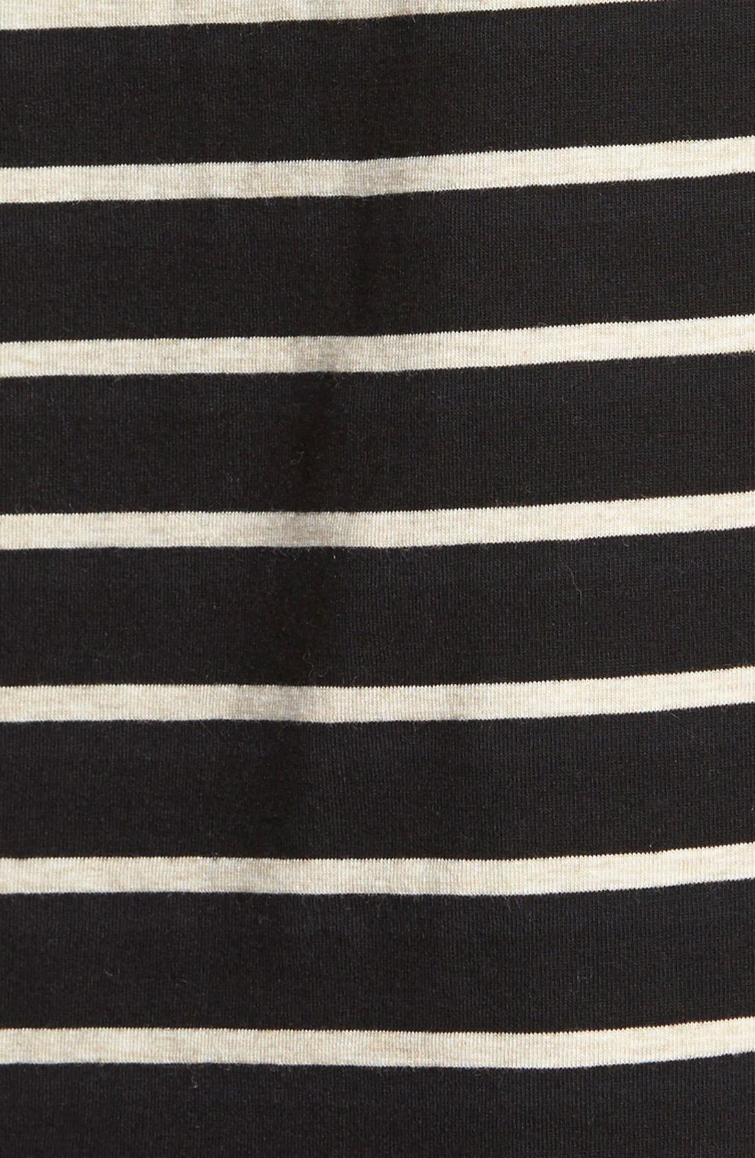 Alternate Image 3  - Two by Vince Camuto Stripe Crop Boxy Hoodie