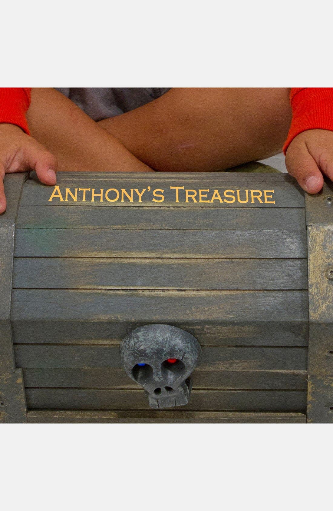 Personalized Pirate Chest,                             Alternate thumbnail 2, color,                             Black
