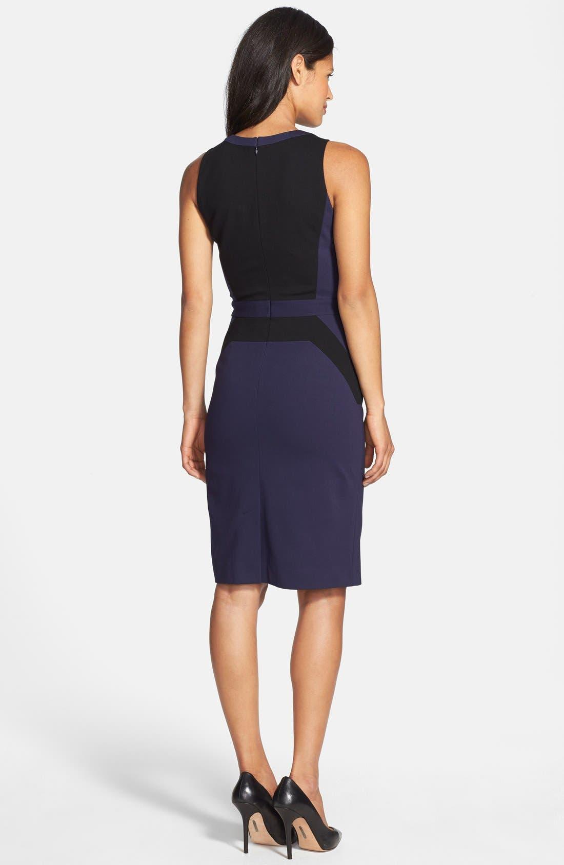Alternate Image 3  - Classiques Entier® Italian Ponte Colorblock Dress