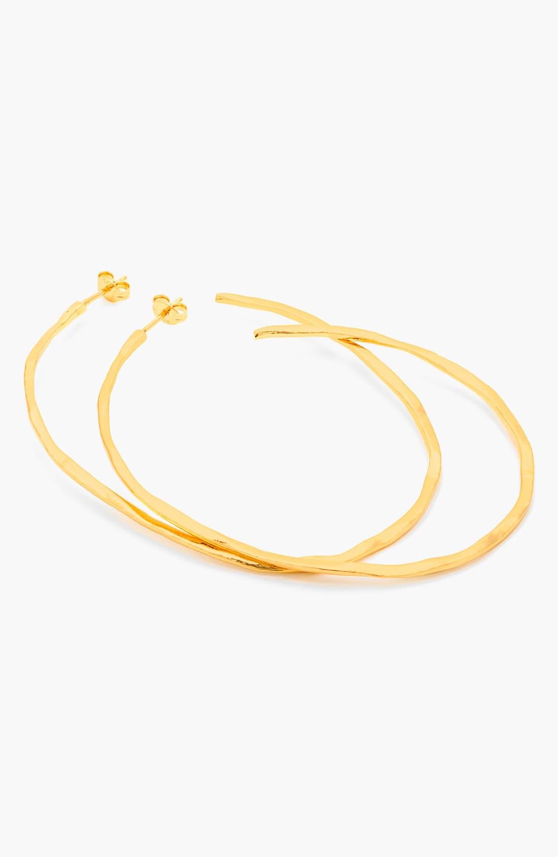 'Laurel' Hoop Earrings,                             Alternate thumbnail 3, color,                             Gold