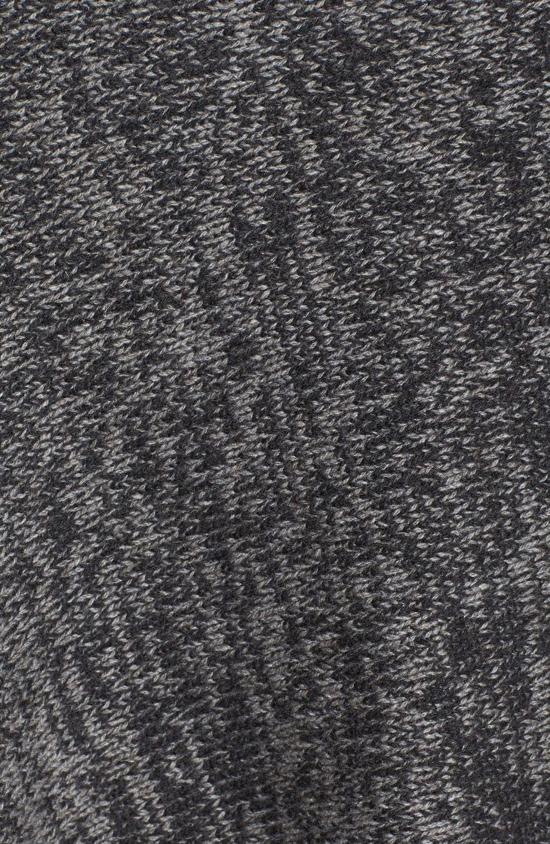 Asymmetrical Yak & Merino Twist Poncho,                             Alternate thumbnail 3, color,                             Charcoal/ Ash