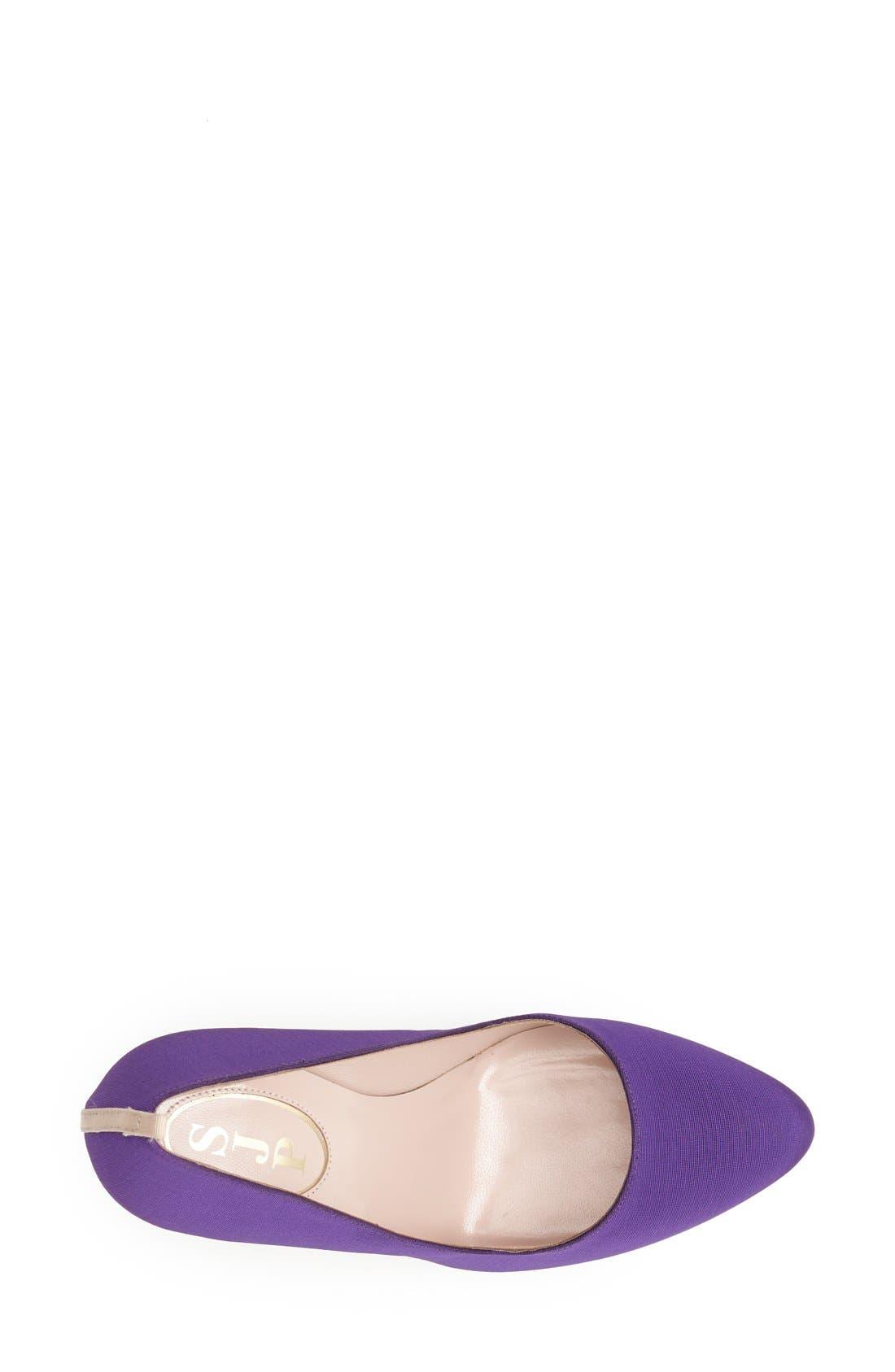 SJP 'Lady' Pump,                             Alternate thumbnail 3, color,                             Purple