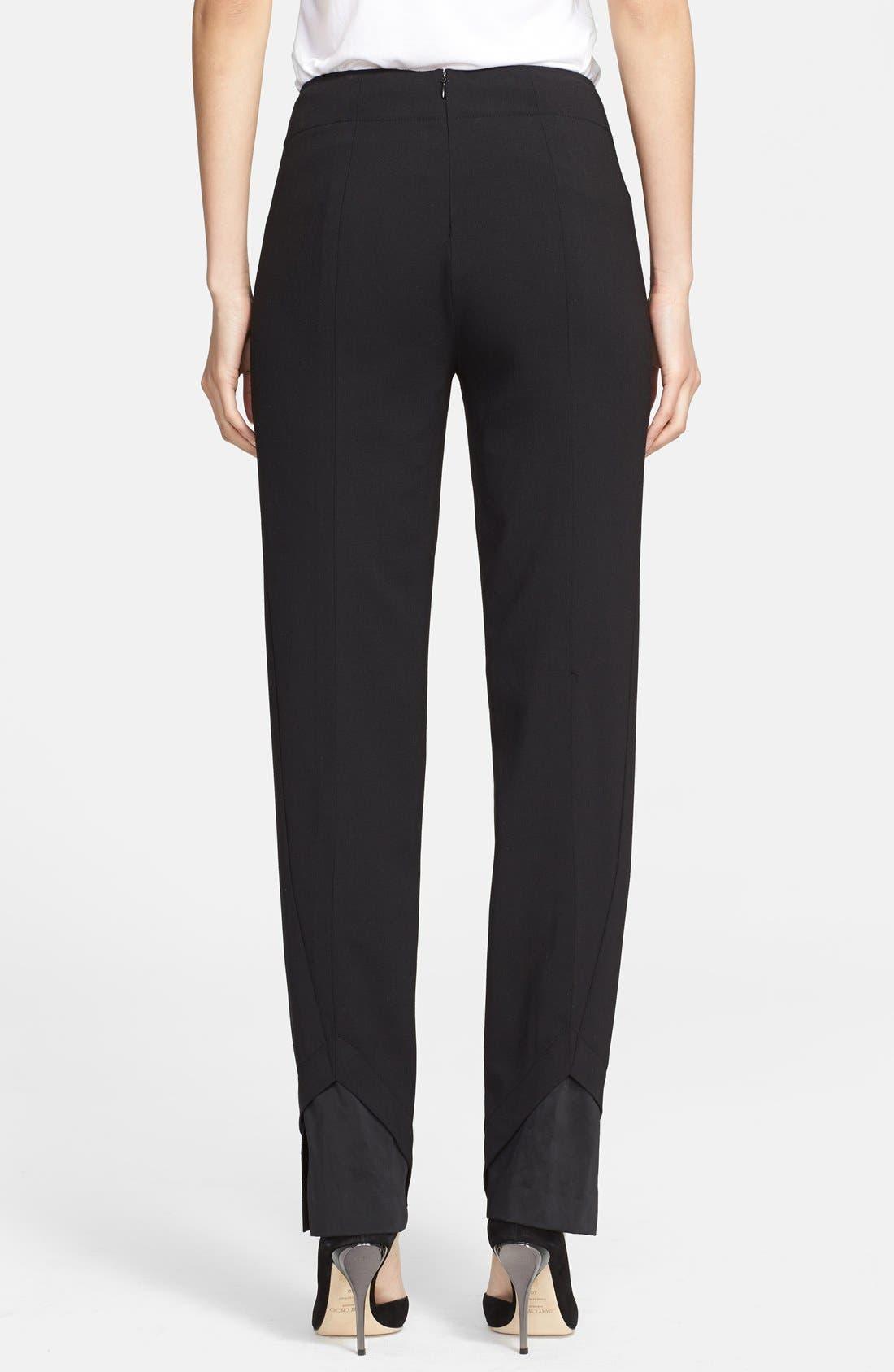Alternate Image 2  - Donna Karan Collection Slim Wool Jersey Pants