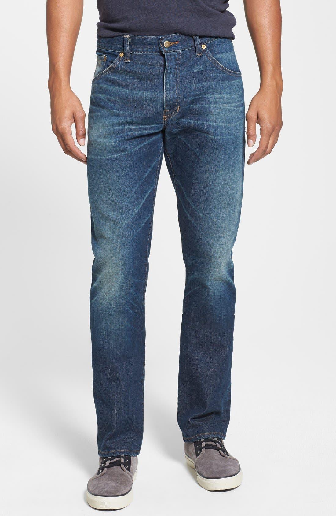 'Jones' Slim Straight Fit Jeans,                             Main thumbnail 1, color,                             Camp