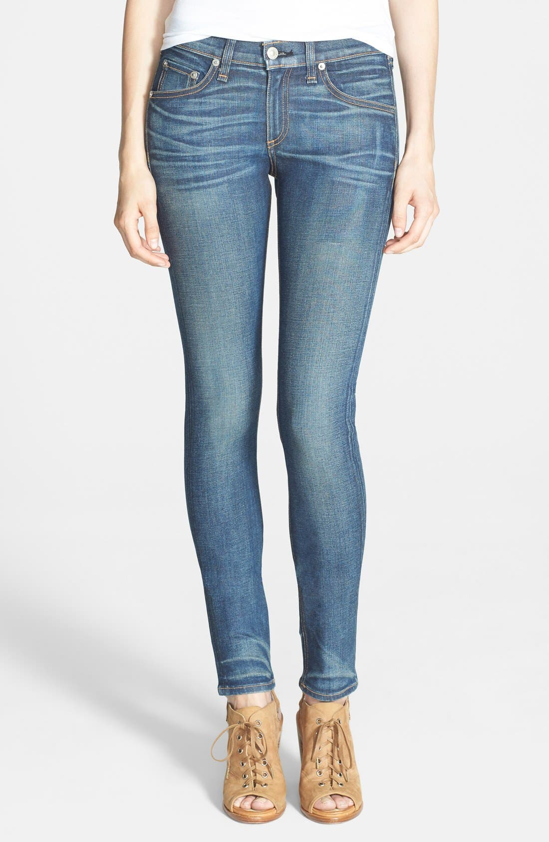 Alternate Image 1 Selected - rag & bone/JEAN Stretch Skinny Jeans (Kingsland)