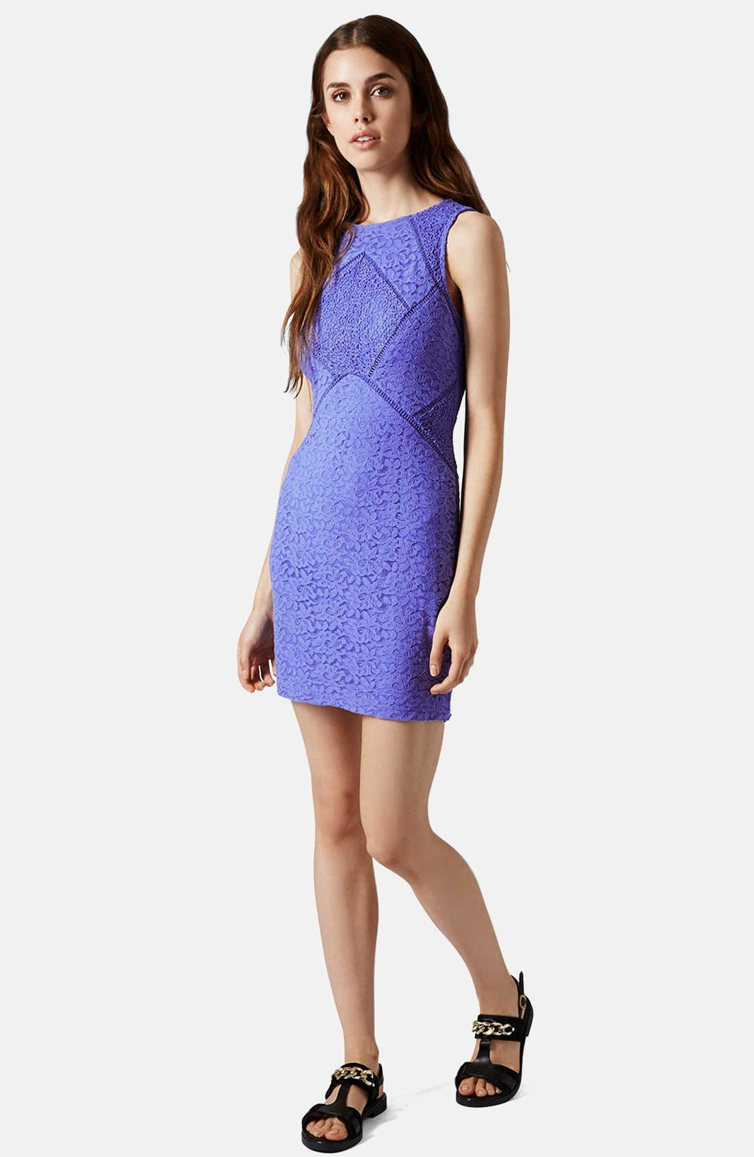 Alternate Image 5  - Topshop Lace Mix Body-Con Dress