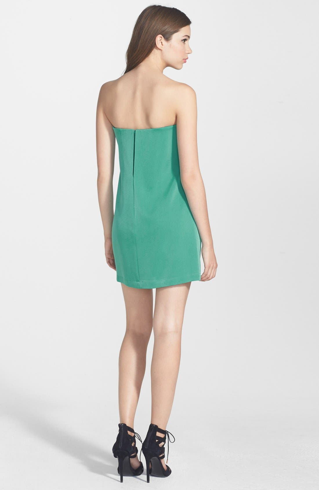 Alternate Image 2  - BCBGMAXAZRIA 'Nahara' Strapless Crêpe de Chine Dress