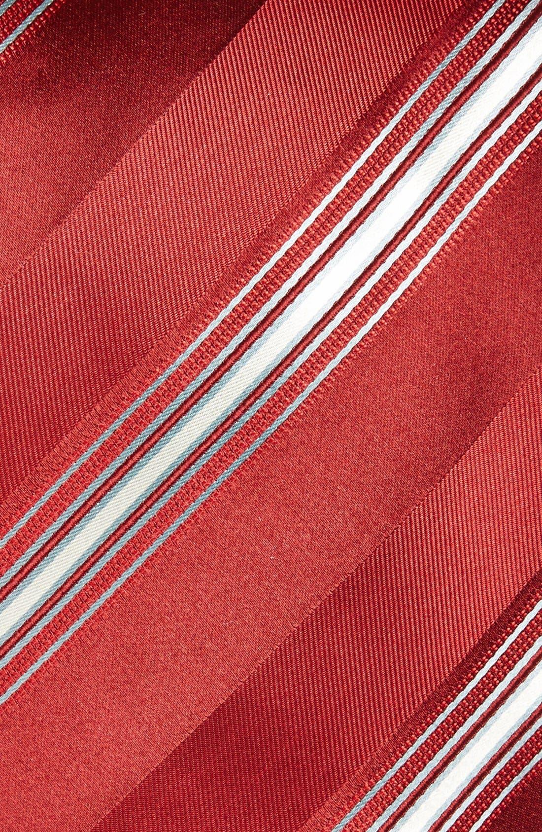 Alternate Image 2  - Canali Stripe Woven Silk Tie