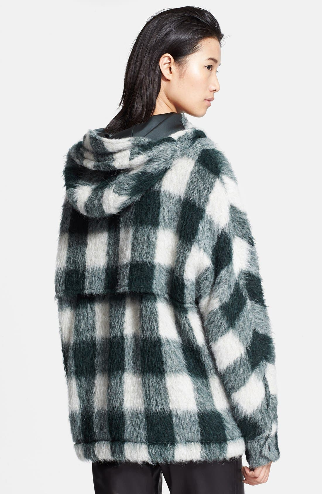 Alternate Image 2  - rag & bone 'Falkland' Hooded Mohair Check Parka