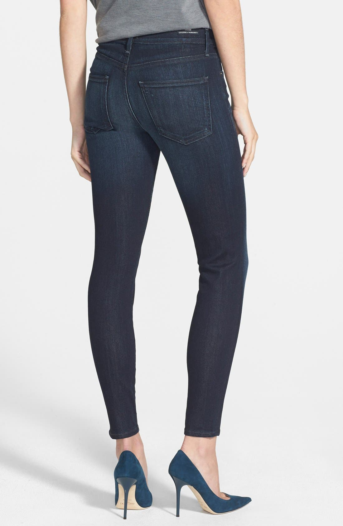 Alternate Image 2  - Citizens of Humanity 'Rocket' High Rise Skinny Jeans (Space) (Petite)