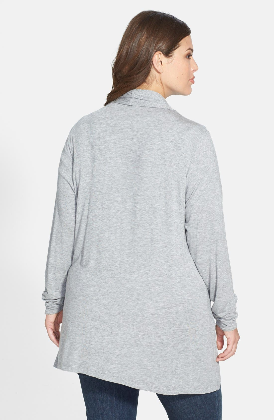Alternate Image 2  - Dantelle Open Front Cardigan (Plus Size)