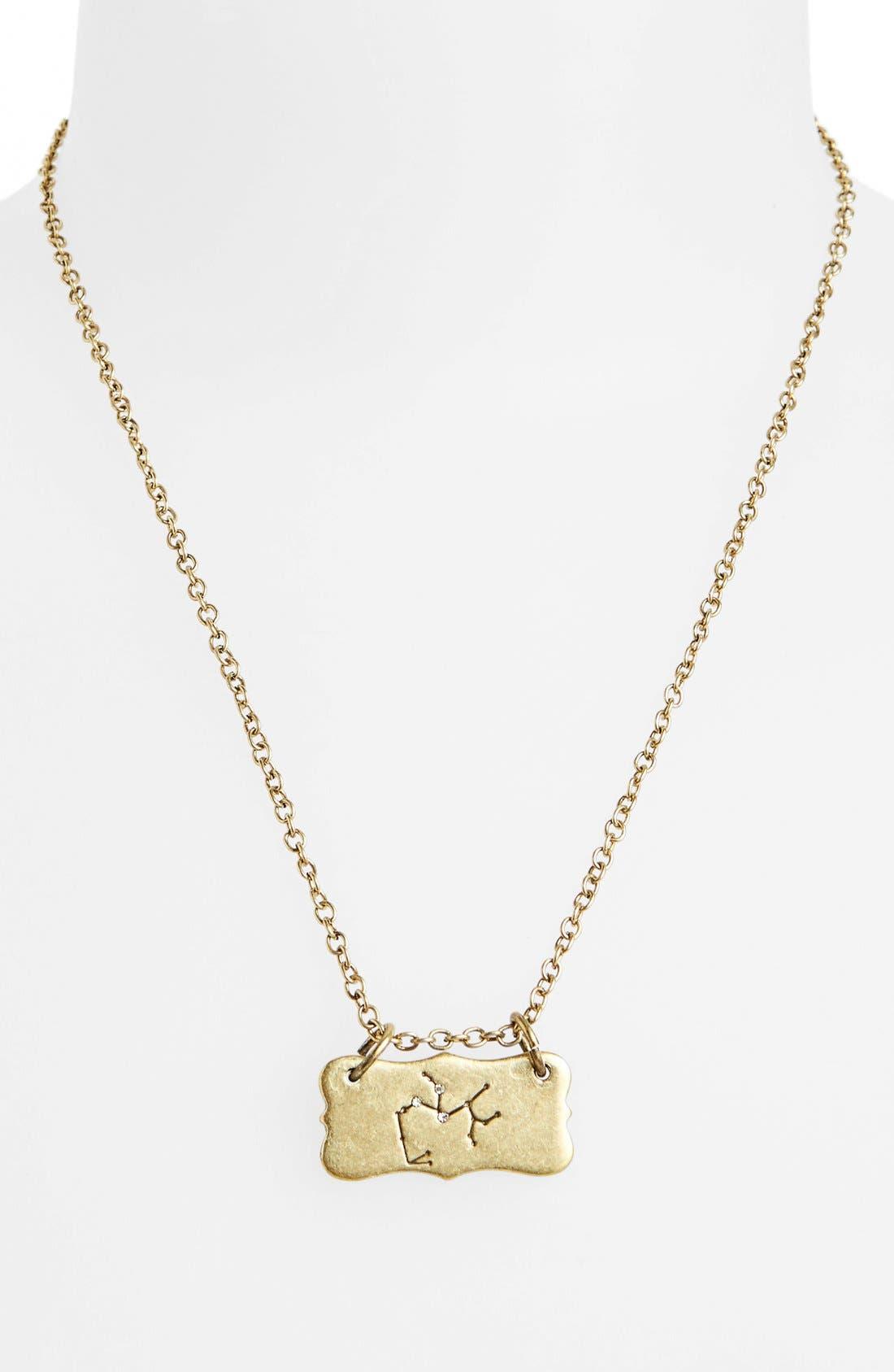 Alternate Image 3  - Berry 'Zodiac - Sagittarius' Reversible Pendant Necklace (Goldtone)