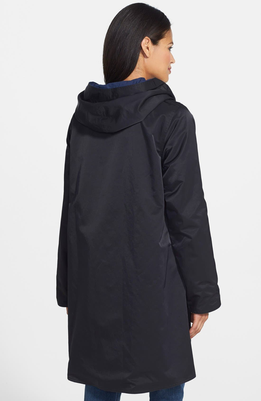 Alternate Image 2  - Eileen Fisher Contrast Lined Reversible Hooded A-Line Coat (Regular & Petite)