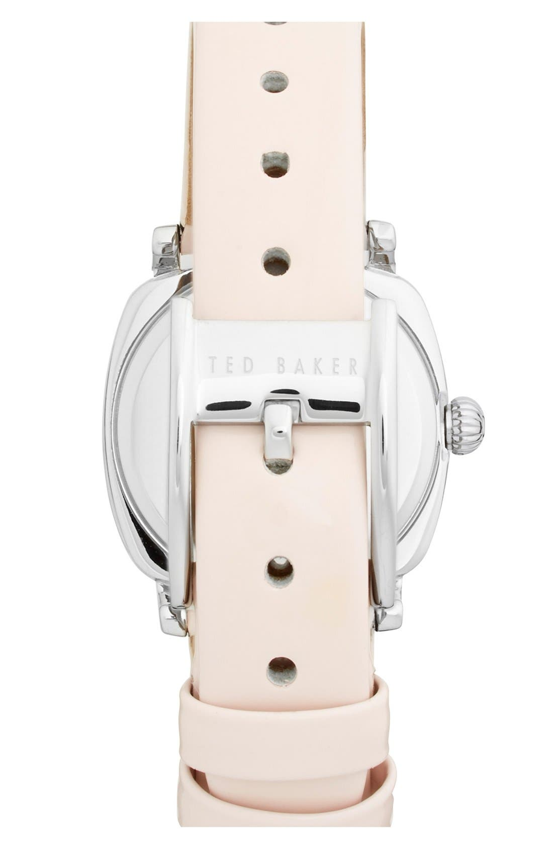 Alternate Image 2  - Ted Baker London 'Mini Jewels' Crystal Index Patent Leather Strap Watch, 26mm