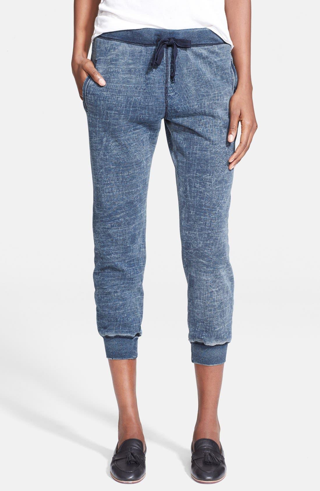 Alternate Image 1 Selected - Current/Elliott 'The Slim Vintage' Cropped Sweatpants