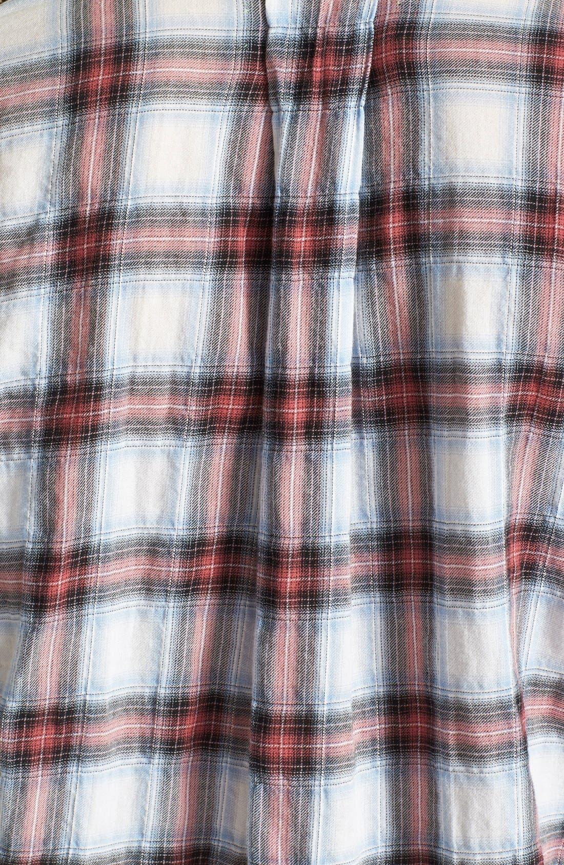 Alternate Image 3  - Sam Edelman Zip Shoulder Plaid Shirt
