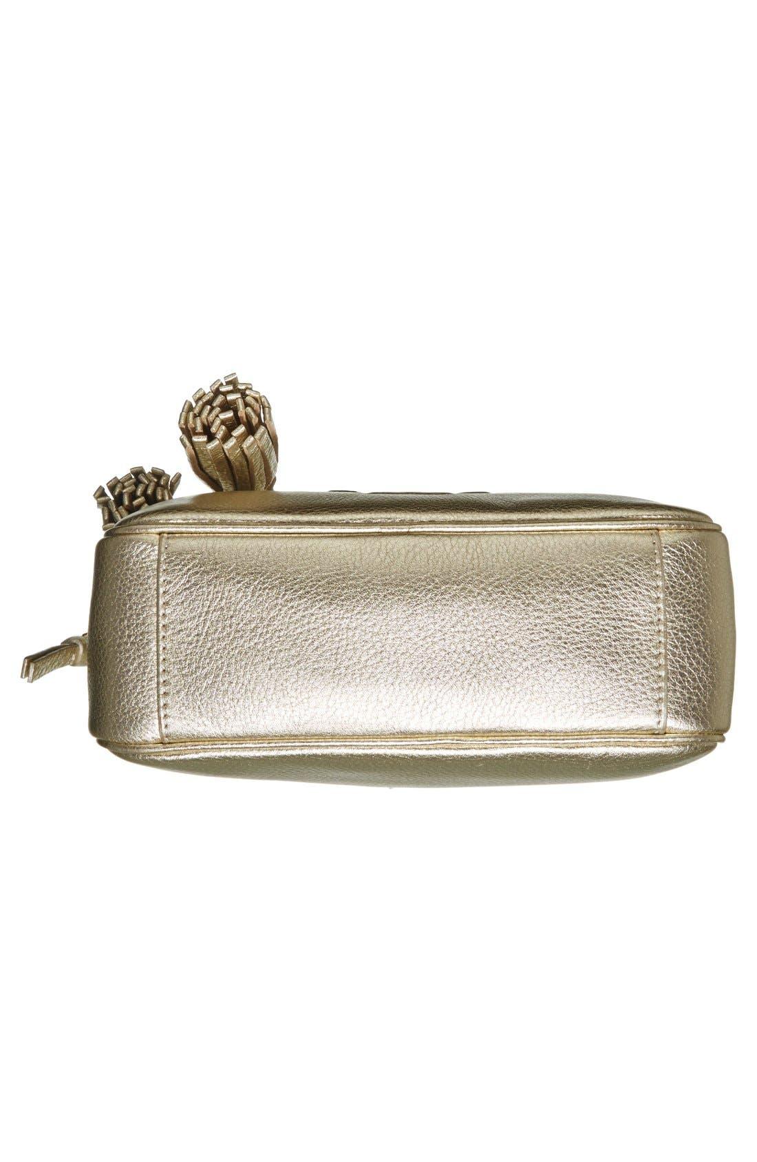 Alternate Image 6  - Tory Burch 'Thea' Metallic Leather Crossbody Bag