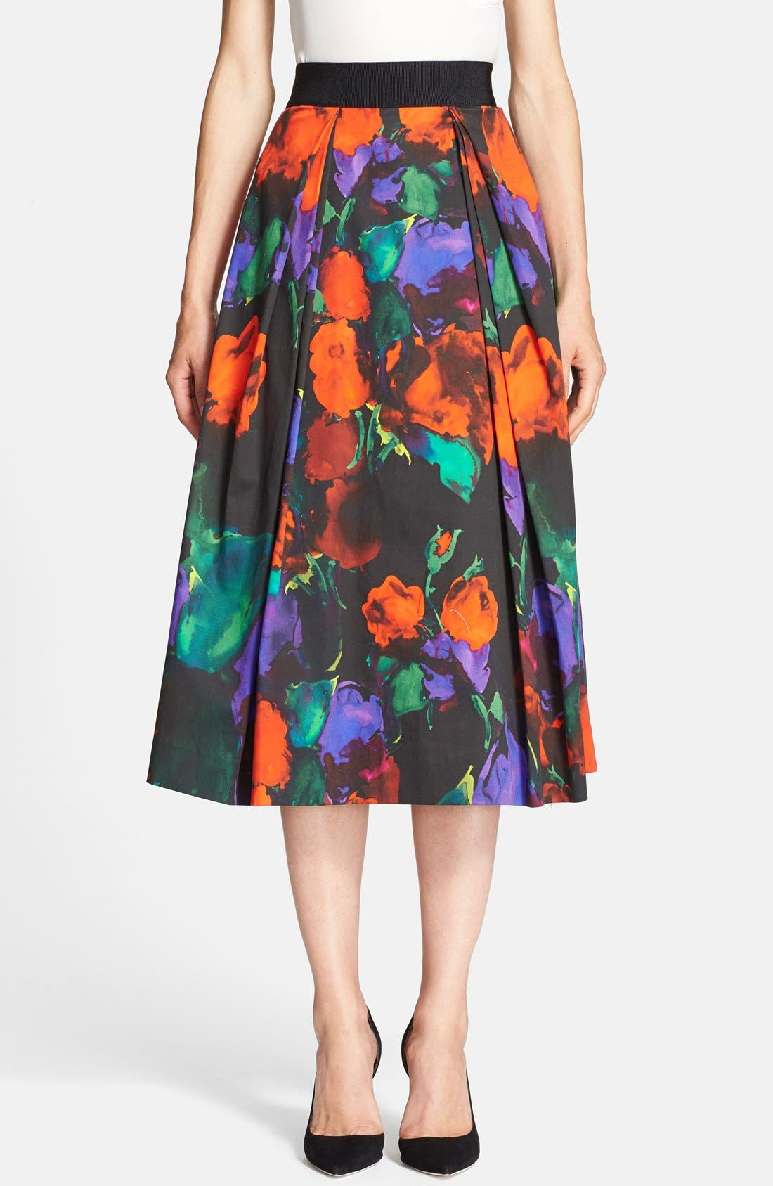 Alternate Image 1 Selected - Milly Pleated Midi Skirt