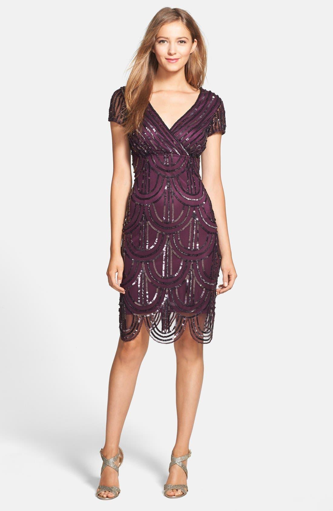 Alternate Image 3  - Marina Sequin Surplice Sheath Dress