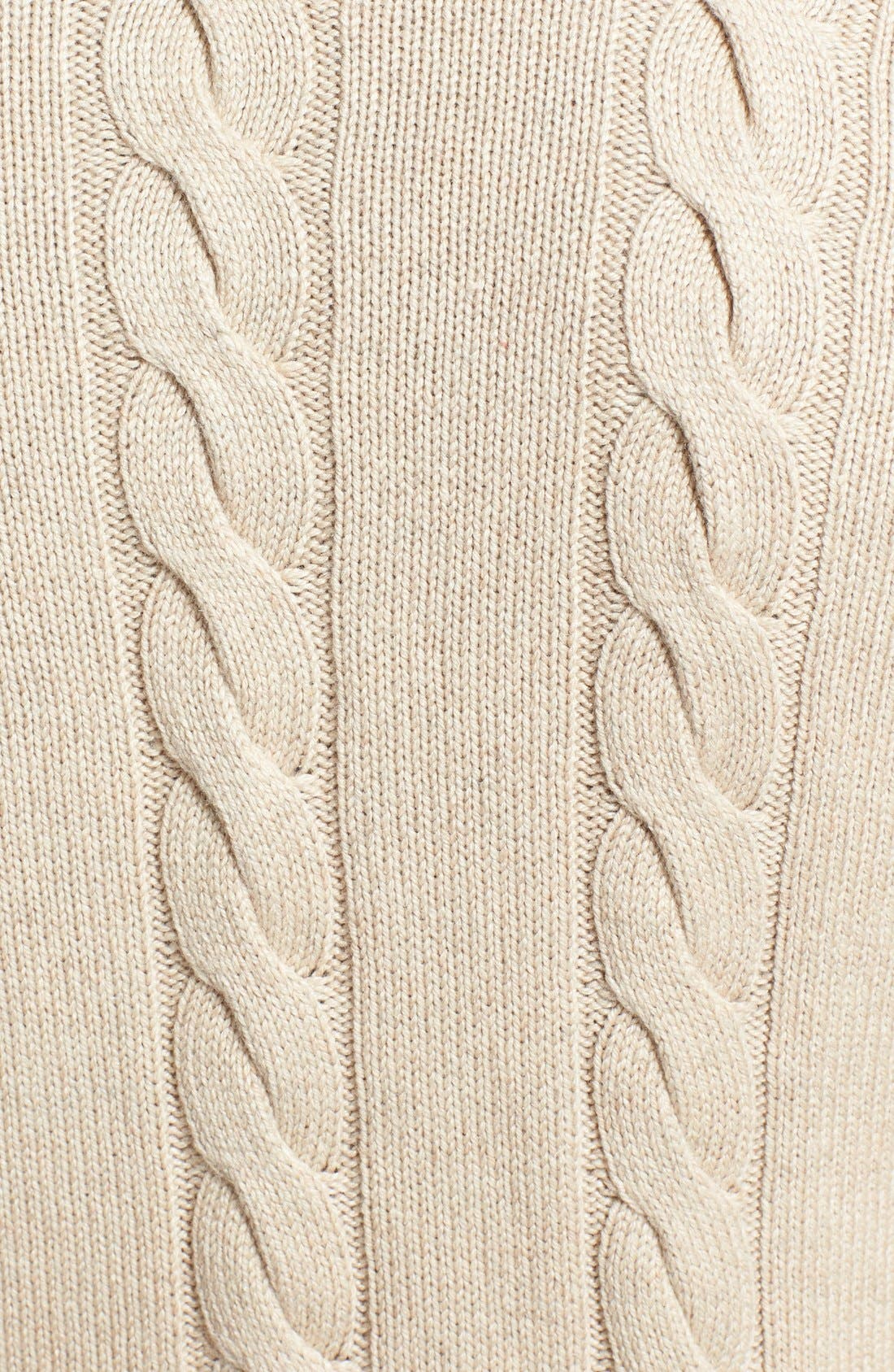 Alternate Image 3  - Polo Ralph Lauren Silk & Cashmere Cable Knit Sweater