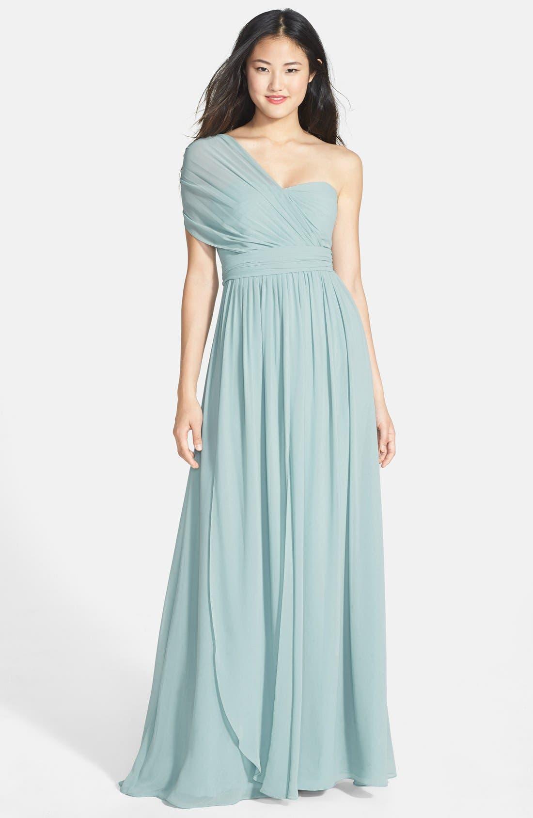 Alternate Image 5  - Jenny Yoo 'Aidan' Convertible Strapless Chiffon Gown