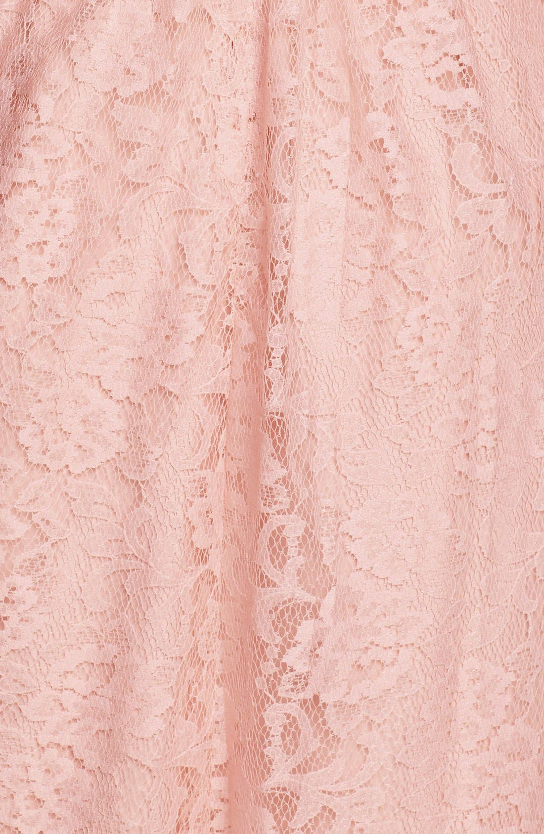 Alternate Image 3  - Amsale Pleated Lace Sweetheart Strapless Gown
