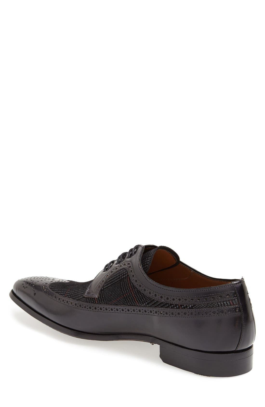 'Johann' Spectator Shoe,                             Alternate thumbnail 2, color,                             Black/ Grey