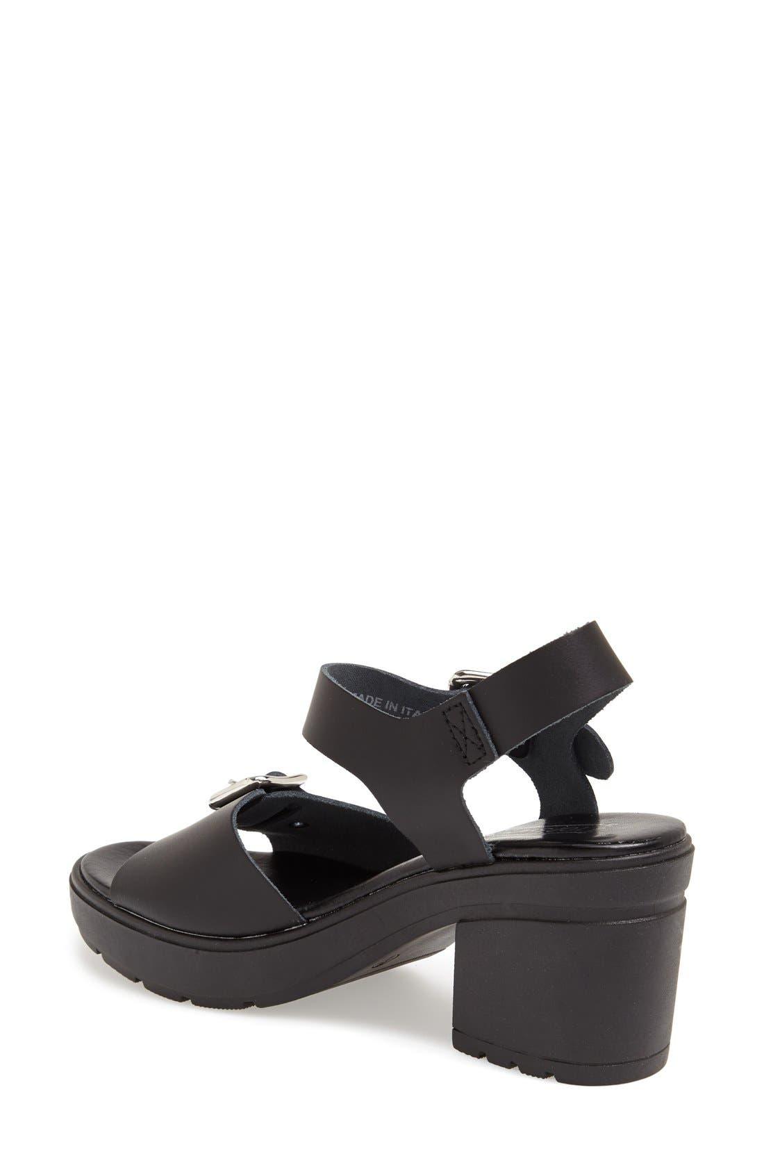 Alternate Image 2  - Topshop 'Niece' Platform Leather Sandal (Women)