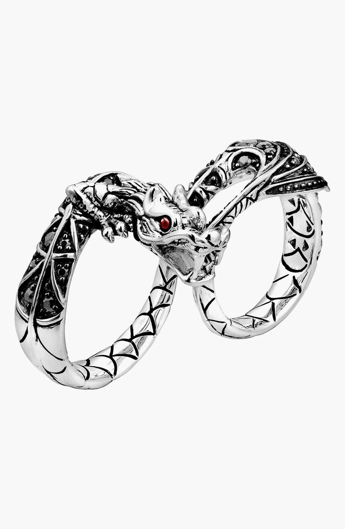 Main Image - John Hardy 'Naga - Lava' Dragon Two-Finger Ring