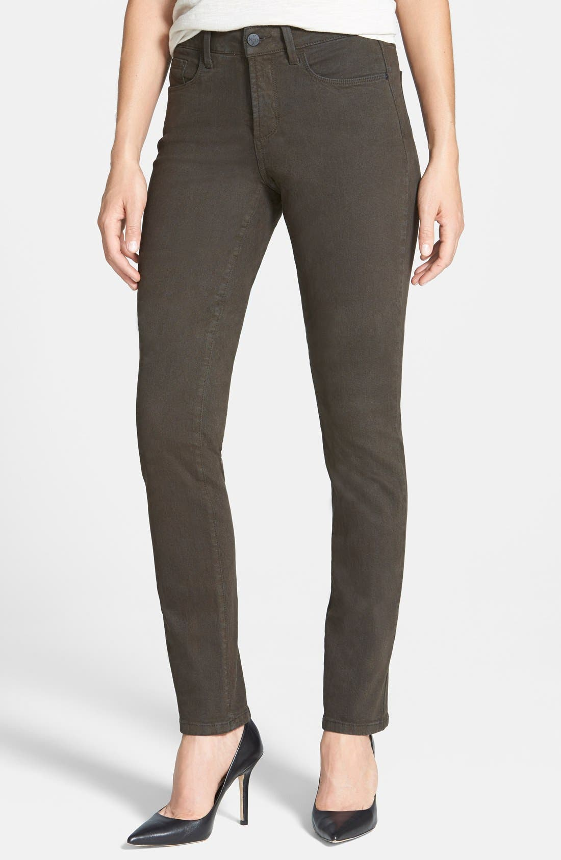 Alternate Image 1 Selected - NYDJ Sheri Colored Stretch Skinny Jeans (Petite)