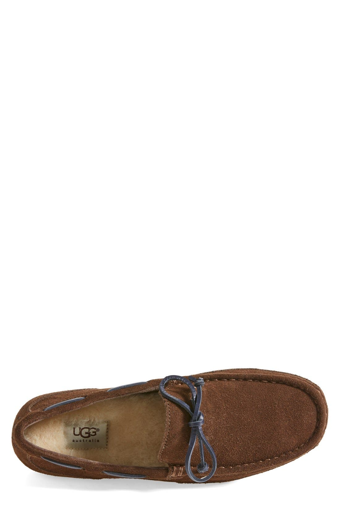 Alternate Image 3  - UGG® 'Chester' Driving Loafer (Men)