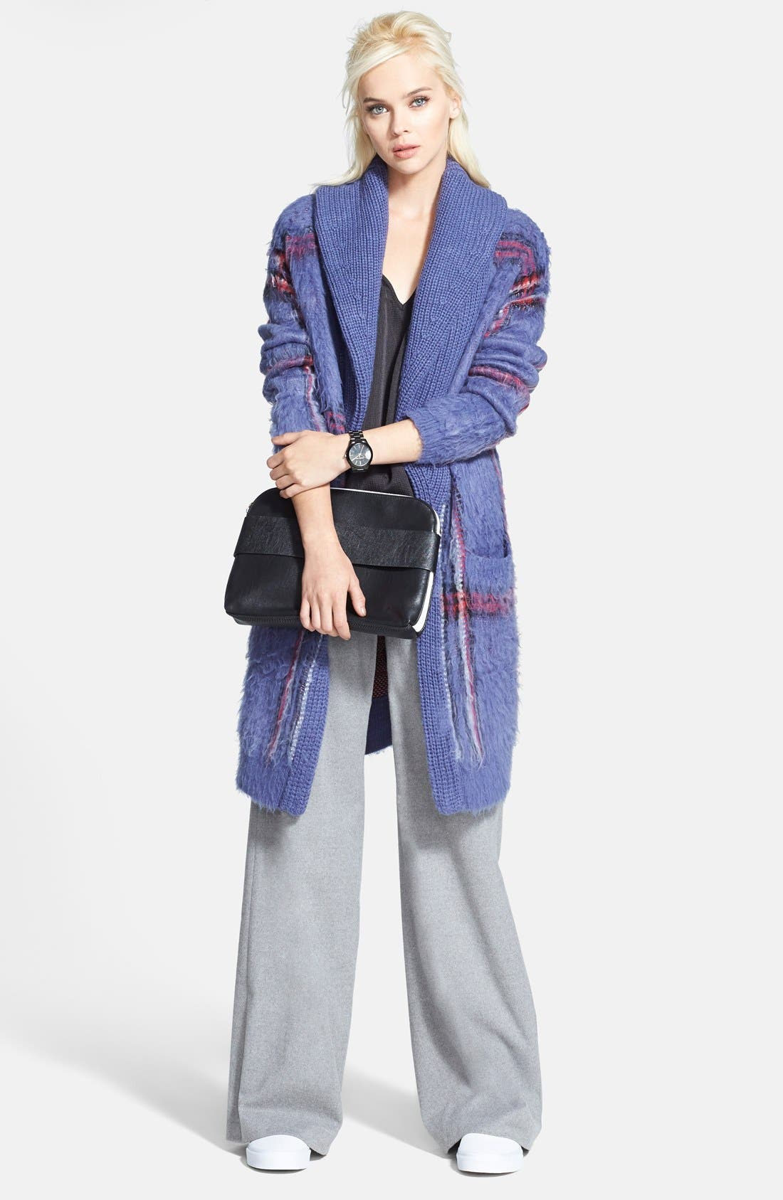Alternate Image 4  - Chelsea28 Plaid Sweater Coat