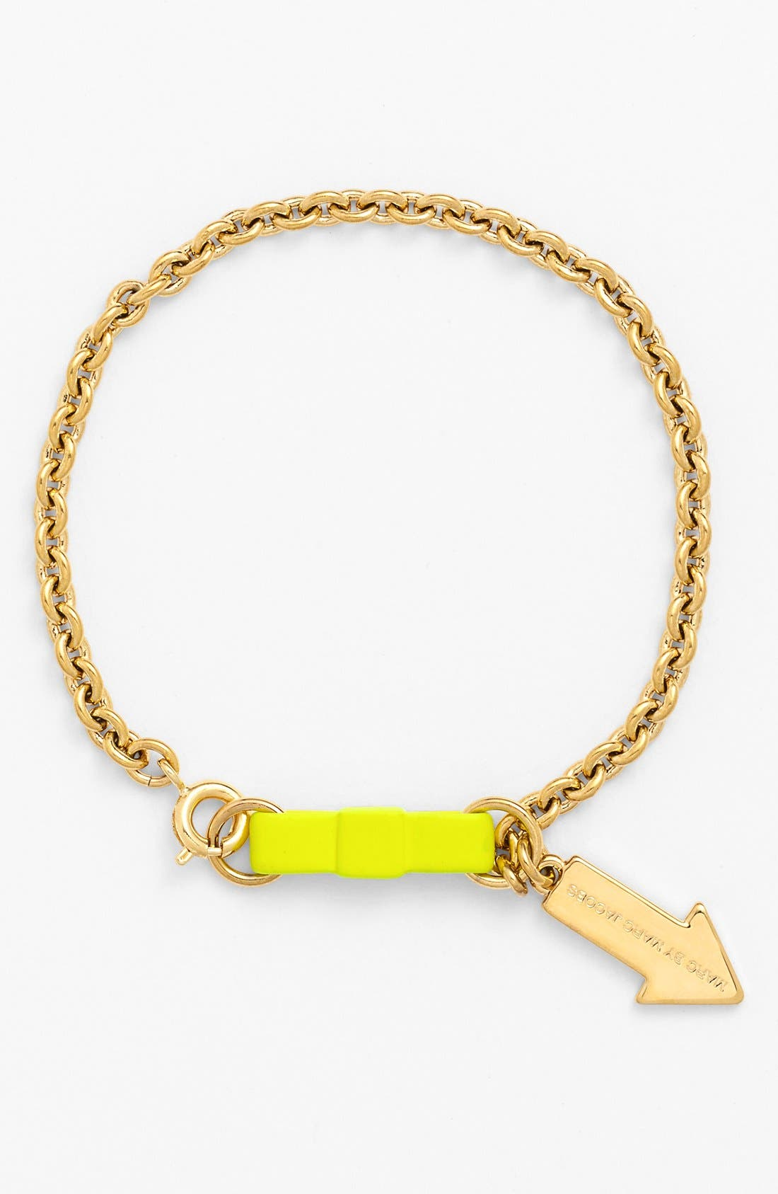 Alternate Image 1 Selected - MARC BY MARC JACOBS Bow Tie Charm Bracelet