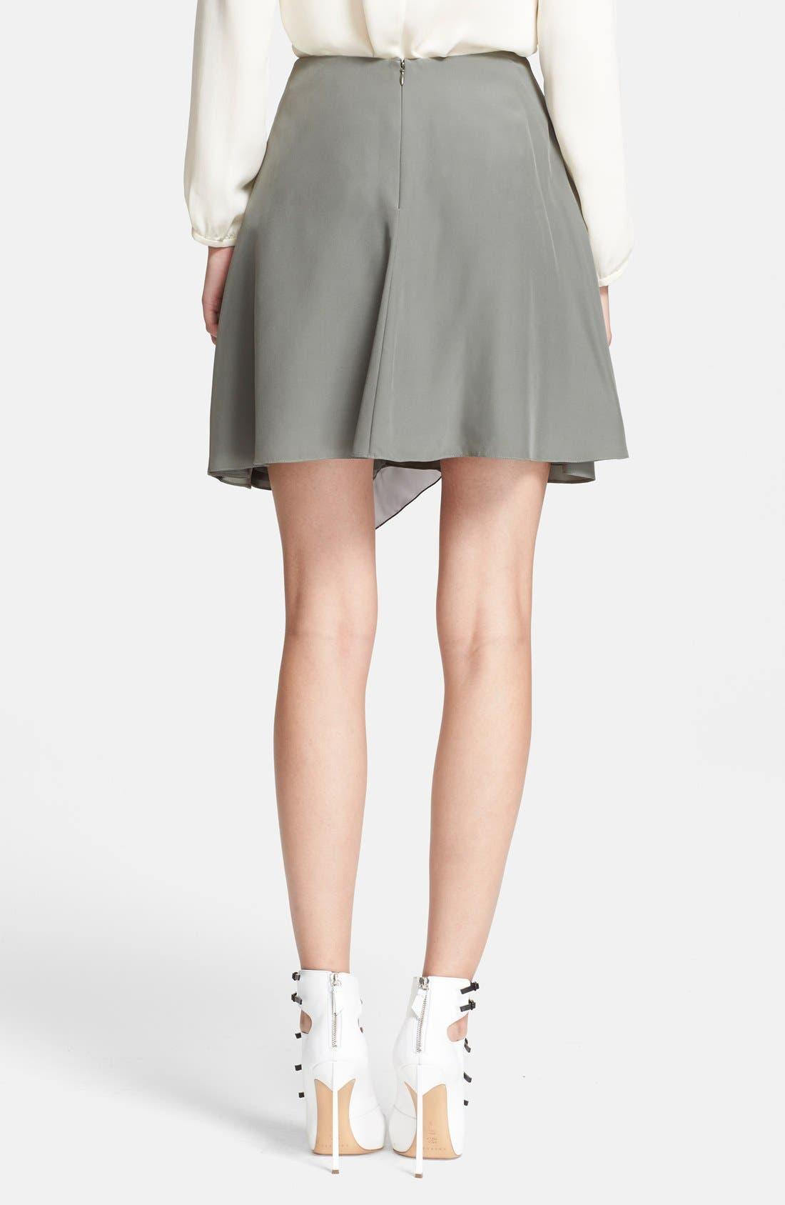 Silk Wrap Circle Skirt,                             Alternate thumbnail 2, color,                             Sage