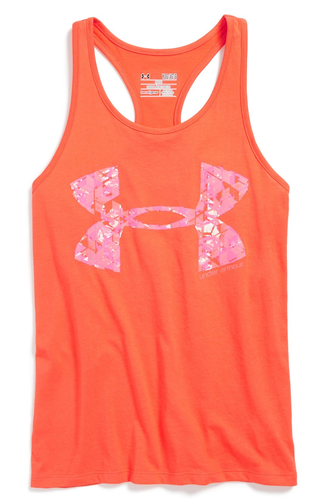 Alternate Image 1 Selected - Under Armour 'Glow' HeatGear (Big Girls)