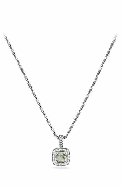 517a375d915b9 David Yurman  Albion  Petite Pendant with Prasiolite and Diamonds on Chain