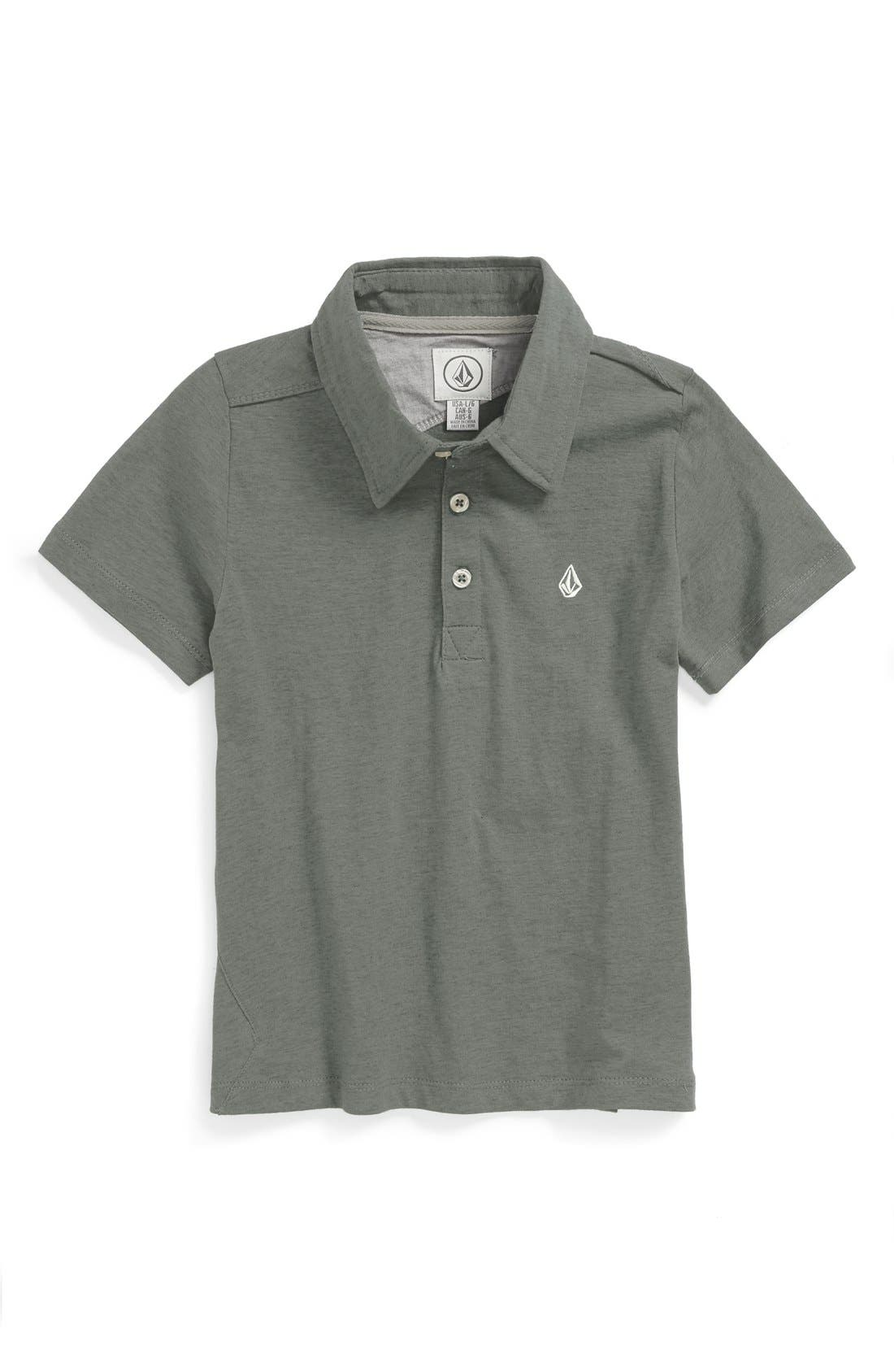 Alternate Image 1 Selected - Volcom 'Wowzer' Short Sleeve Polo (LBig Boys)