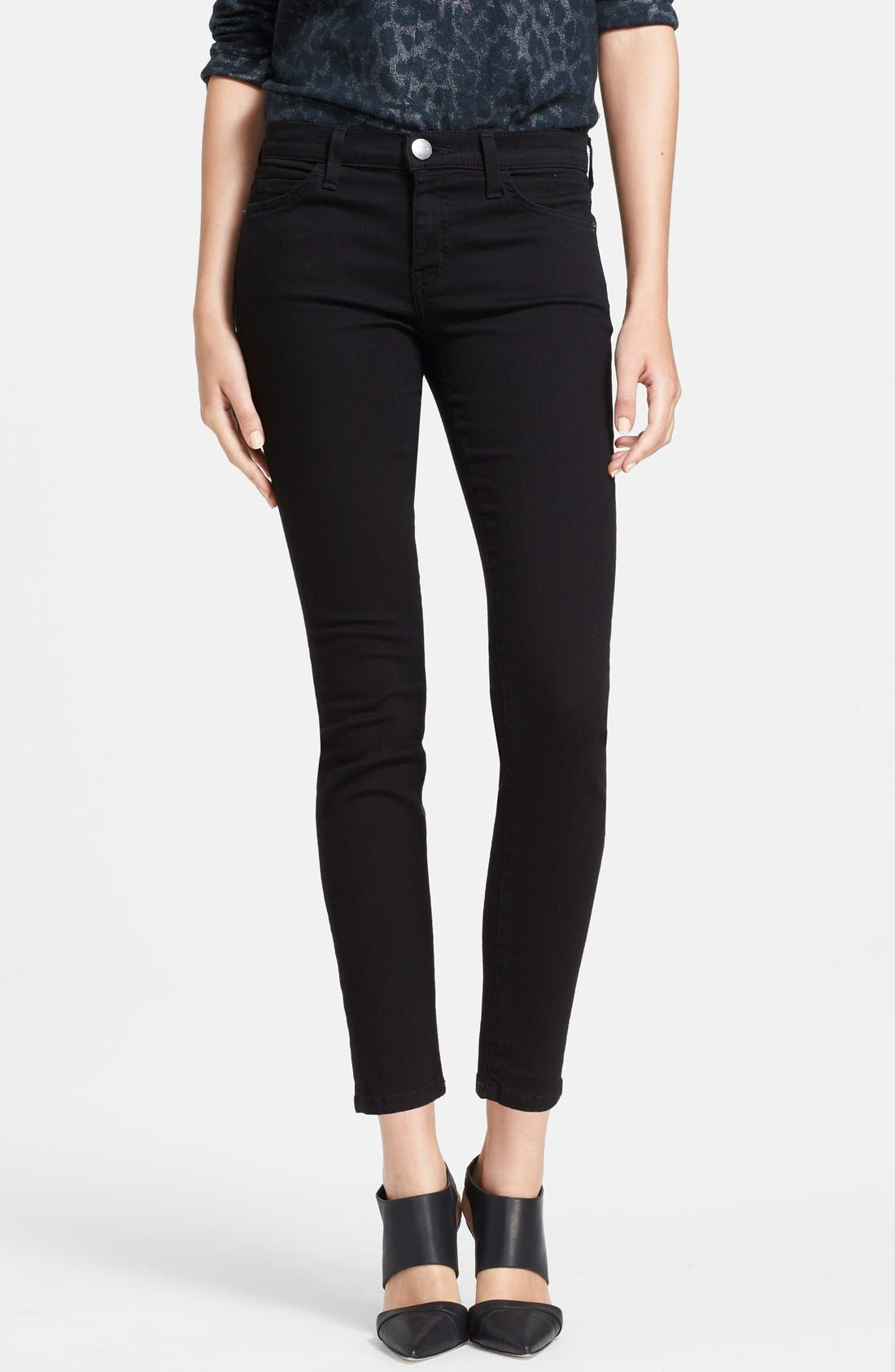 The Stiletto Ankle Skinny Jeans,                         Main,                         color, Jet Black
