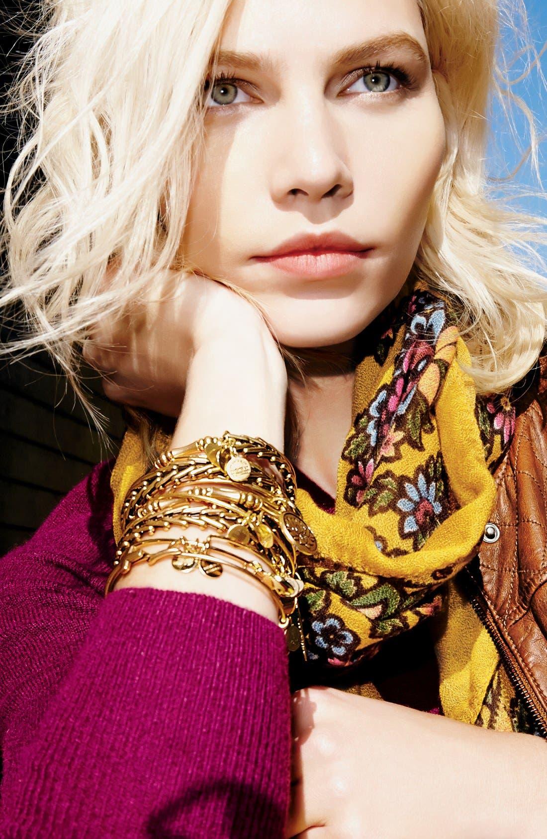 Alex and Ani 'Gypsy 66' Wrap Bracelet,                             Alternate thumbnail 6, color,