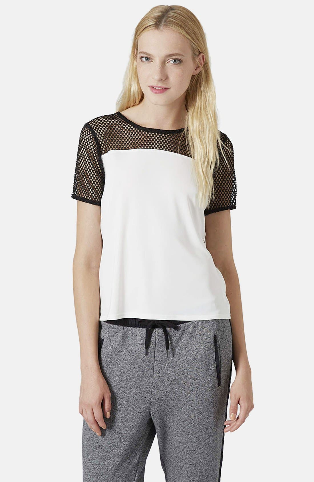 Alternate Image 1 Selected - Topshop Airtex Crepe Tee