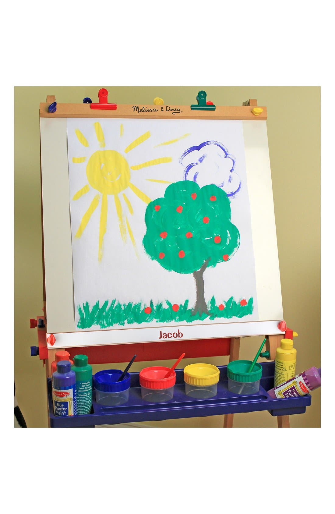 Personalized Wooden Standing Art Easel,                         Main,                         color, Red