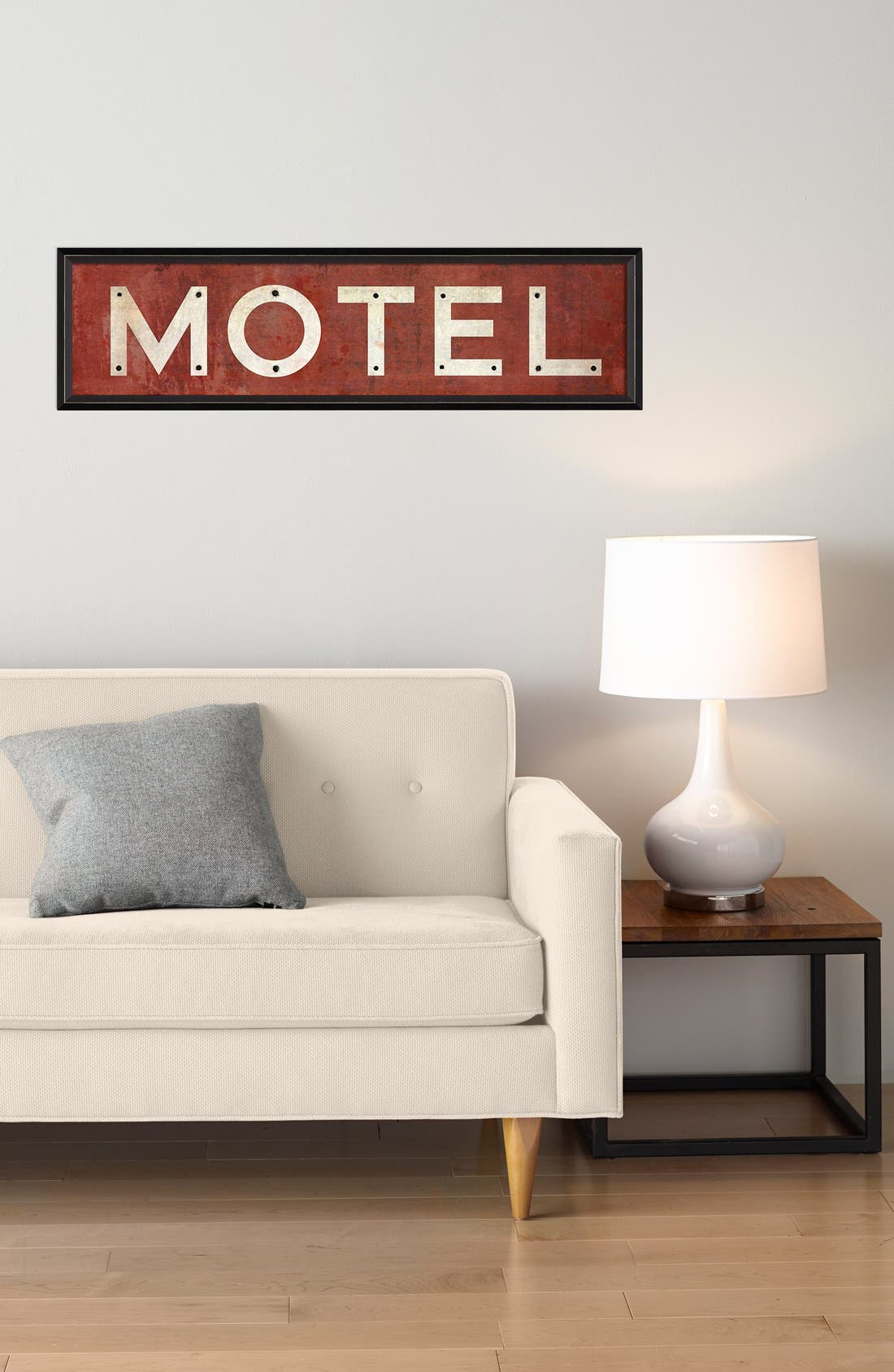 Alternate Image 2  - Spicher and Company 'Motel' Vintage Look Sign Artwork